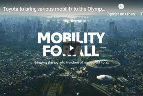 Das Mobilitätskonzept von Toyota für Olympia in Tokio 2020