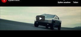 Video-Teaser zum Tesla Cybertruck