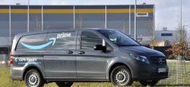 Zehn elektrische Mercedes-Benz eVito liefern Amazon Pakete in München aus