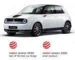 Honda e gewinnt Red Dot Design Awards 2020