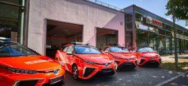 Vier Toyota Mirai für die Berliner Feuerwehr